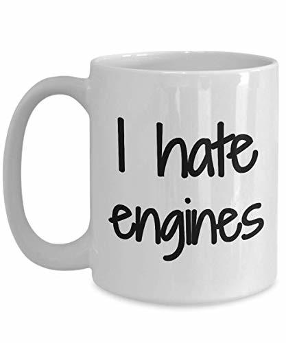 Primary image for Hate Engine Mug I Mechanic Hater Coffee Tea Cup Funny Gift Idea for Novelty Gag