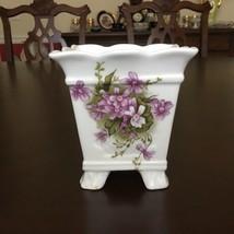 "Vintage Rare Seymour Mann Victorian Violets 4"" Fine Bone China Planter J... - $23.38"