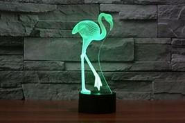 Neuf 3d Flamingo Veilleuse Touch Table Desk lamps 7 Changement de couleu... - $31.25