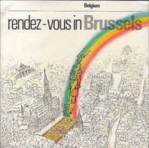 Rendez Vous in Brussels Belgium Vtg Map & Travel Tourist Guide 1982 - $10.39