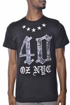 1183ml Quaranta Ounce New York Rose E Stars T-Shirt Nwt