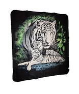 White Tiger Tigers Animal 50x60 Polar Fleece Blanket Throw - $16.10