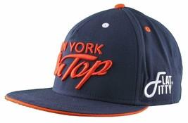 Flat Fitty New York On Top Navy Orange Wiz Khalifa Snapback Baseball Hat Cap NWT image 2