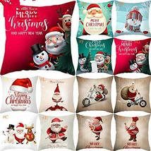 Christmas Throw Pillow Case Cover 18 x 18 Inch Cushion Xmas Home Decor T... - $19.80