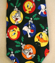 Looney Tunes Bugs_Bunny_Daffy Duck_Tweety_Christmas_Ornaments Neck Tie n... - $22.76