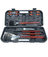 17-Piece Stainless Steel BBQ Tool Set - $107.91