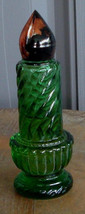 Nice Avon Collectible Green Glass Candle Bottle VG COND - $4.94