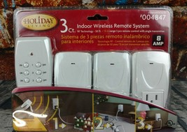 Holiday Living 100 ft Range 3 Count Indoor Wireless Remote System Model ... - $24.99
