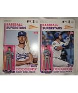 (2) 2020 Topps Big League Baseball Figure Cody Bellinger Superstars Vari... - $49.49