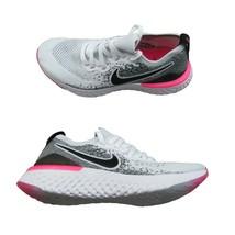 Nike Epic React Flyknit 2 Running Shoes Women Size 9 White Black Pink BQ... - $103.90