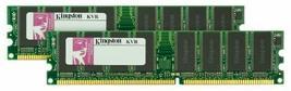 Kingston 2GB Kit 400MHZ Ddr PC3200 (KVR400X64C3AK2/2G) (2 X 1 Gb) - $32.66