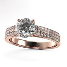 1.55 Carat Round D VS1 - 18 KARAT Rose Gold Diamond Engagement Ring Enha... - $7,287.77