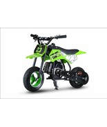 Youth Kids Dirt Bike Green Gas Powered Motor 51 CC 2 Stroke Off Road Rid... - $277.14