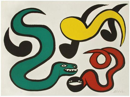 "Alexander Calder ""Couleurs Au Choix"" 1970 - Signed Print - See Live at G... - $3,500.00"