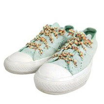 Converse Fashion Sneakers Women's Size 6/36.5 Green Fabric - $32.30