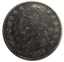 1829 Capped Bust Half Dollar 50¢ Coin Lot# EA 320