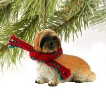 Lhasa Apso Puppy Cut Miniature Dog Ornament - Brown - $10.99