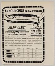 1964 Print Ad Silde Glimt Swedish Varberg Fishing Lures Johnson Minnepolis,MN - $9.88