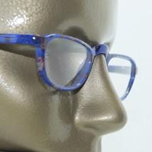 Half Eye Reading Glasses +1.00 Lens Blue Pattern Frame - $14.97