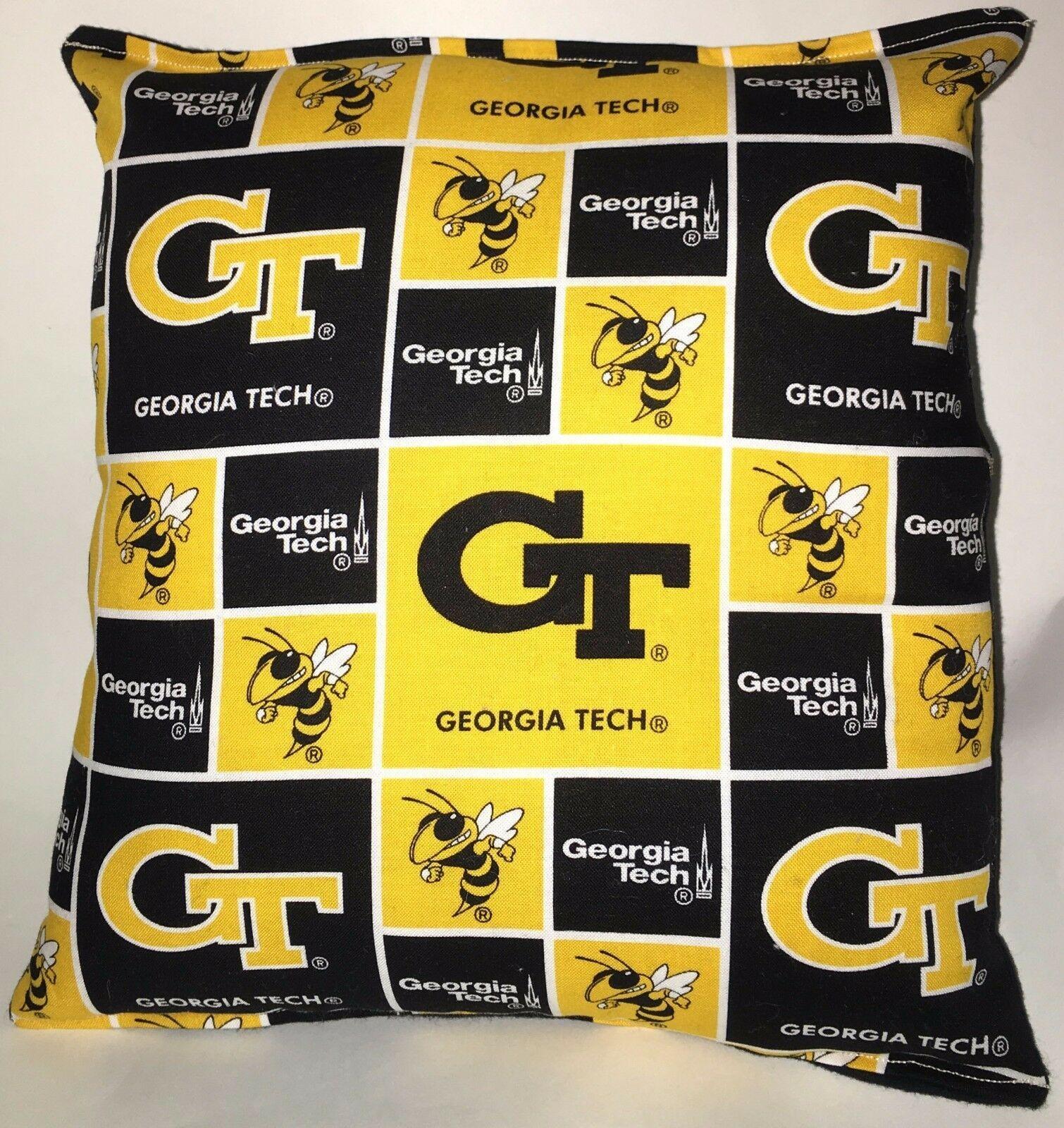 Georgia Tech Pillow GT Football Pillow NCAA HANDMADE In USA Buzz Buzz