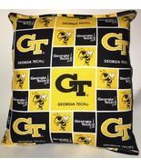 Georgia Tech Pillow GT Football Pillow NCAA HANDMADE In USA Buzz Buzz - $9.99