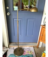 Vtg Chapman Brass Adjustable Floor Lamp with Round Shade mid century modern - $299.99