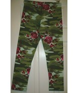 Wonder Nation Girls Tough Cotton Leggings Size Medium 7-8 Green Camo W R... - $9.00