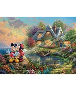 Ceaco Thomas Kinkade The Disney Collection Mickey and Minnie Sweetheart ... - $21.28