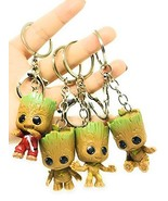 Micro Landscape Design Set of 4 Miniature Super Cute Baby Groot Keychain... - $9.28