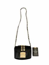 Valentino Black Leather Gold Stud Rockstud Small Glam Lock Crossbody Bag Purse image 1