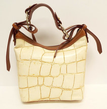 DOONEY & BOURKE Ivory Leather Alligator Print Hobo Bag - $68.00