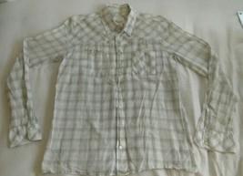 Diesel womens size large longsleeve button down shirt unique style - $12.59