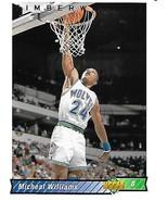 Basketball Card- Micheal Williams 1992 Upper Deck #398 - $1.25
