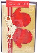 Scrapbook Mittens Christmas Holiday Cards 16ct Hallmark New - $15.59