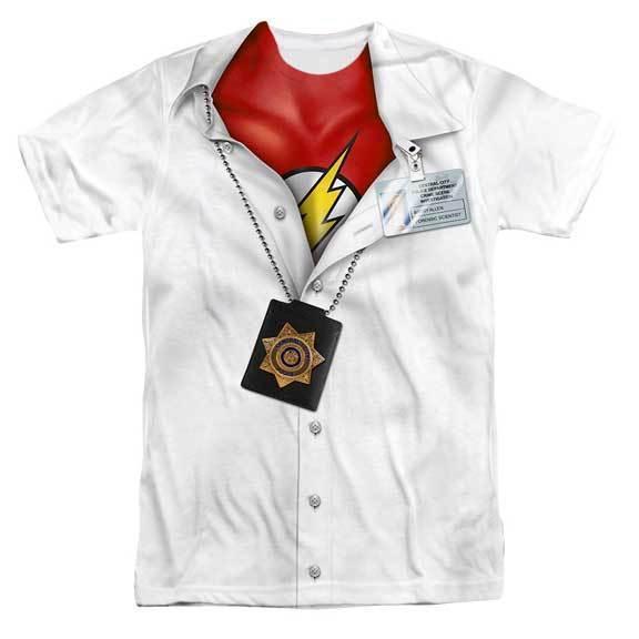 Im Flash Barry Allen Émissions Télé Scientifique Super Héros DC Comics Logo Polo - $25.23 - $29.44