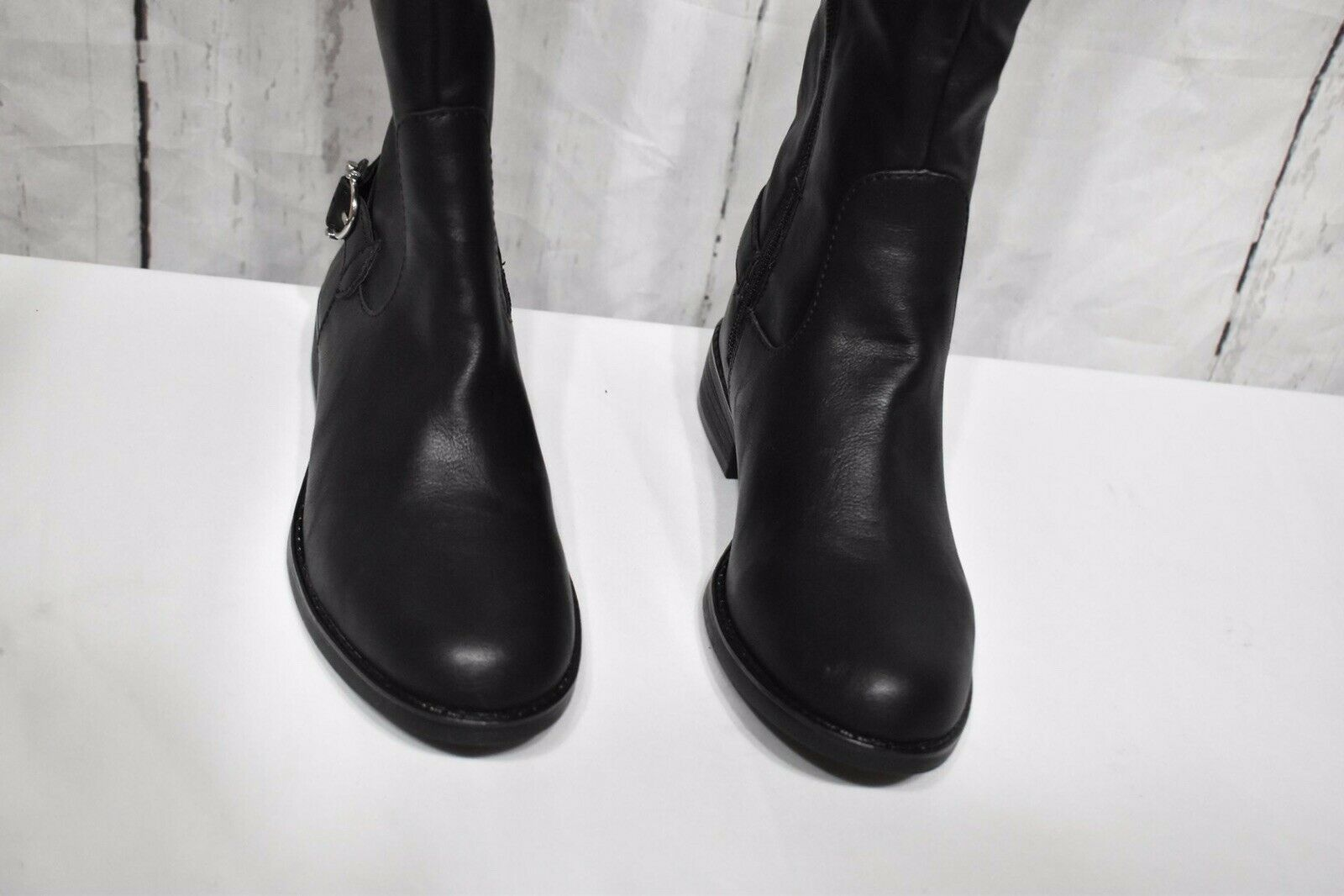 American Rag Womens Adarra Leather Round Toe Over Knee Riding Boots