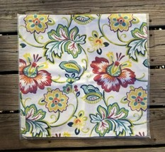 Floral Print 18x18 Pillow Cover Zippered - $22.53