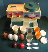 Vtg. Fisher Price Fun with Food #2118 McDonald's Soda Fountain 98% Comp/... - $75.00