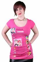 Paul Frank Julius FB Pink Magenta Facebook T-Shirt