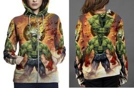 hulk cover color battleartist Hoodie Zipper Women's - $48.99+