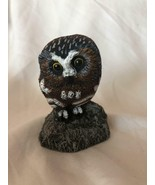 Cold Bronze Cast Owl Vintage Figurine Crafted and Hand Painted Made in U... - $69.29