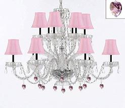 Murano Venetian Style All Empress Crystal (Tm) Chandelier! with Pink Crystals an - $307.71