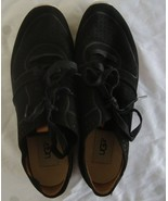 UGG Treadlite Size 9 Black Leather Lace up Sneakers Shoes Womens Style #... - $34.60