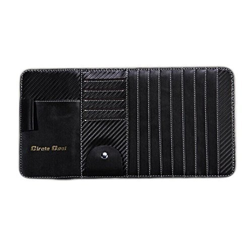 PANDA SUPERSTORE Carbon Fiber Multi-Functions CD Visor CD Holder/Organizer for C