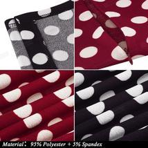 Women's Retro Polka Dot Short Sleeve Belted Wear To Work Dress image 3