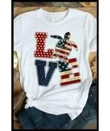 Turtle American Flag Love Men T-Shirt White Cotton S-6XL - $16.82+