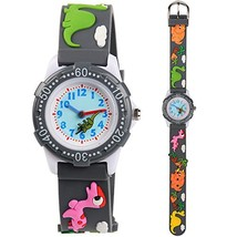 Venhoo Kids Watches 3D Cute Cartoon Waterproof Silicone Children Toddler Wrist W