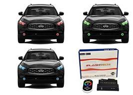 FLASHTECH LED RGB Multi Color Halo Ring Headlight and Fog Light Kit for Infiniti - $379.26