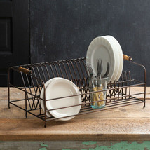 Large Antique Brass Plate Drying -Storage Rack - $64.00