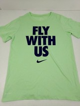 Nike Dri-Fit Boys Youth T-Shirt Fly With Us Size M Athletic Cut Mint Green New - $14.46